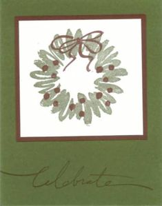Simple Sketch It set- wreath stamp & Wonderful Words set Christmas 2014, Christmas Wreaths, Christmas Cards, I Card, Stampin Up, Craft Supplies, Card Making, Paper Crafts, Bows