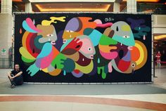 Oli-B's Beautiful Shapeshifting Abstract Street Art