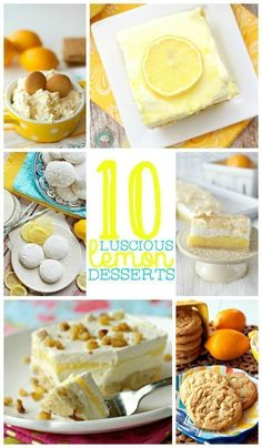 Recipes for 10 Luscious Lemon Desserts