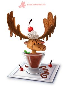 Daily Paint #1168. Chocolate Mousse, Piper Thibodeau on ArtStation at https://www.artstation.com/artwork/z5X9L