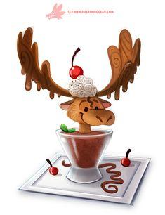 Daily Paint #1168. Chocolate Mousse, Piper Thibodeau on ArtStation at https://www.artstation.com/artwork/z5X9L