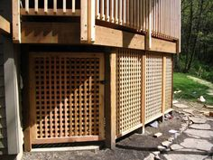 Cedar Deck Skirting