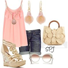such a cute light pink outfit