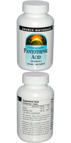 Vitamin B-5 Dietary Supplement Pantothenic acid is a member of the B-vitamin family, and is often referred to as vitamin B-5. Its bioactive form, coenzyme A, plays a role in many processes in the body, including the metabolism of proteins, fats and carbohydrates, the production of energy, and the synthesis of red blood cells and a key neurotransmitter, acetylcholine. Now Vitamins, Natural Vitamins, Calcium Phosphate, Pantothenic Acid, Best Supplements, Neurotransmitters, Blood Cells, Lower Cholesterol, Metabolism