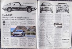 1982 Mazda RX-7 Ad from 1982 RT82-112 by VintageVirtus on Etsy