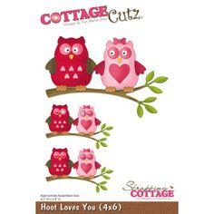 Cottage Cutz Hoot Loves You von Prell Versand auf DaWanda.com
