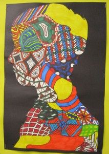 silhouettes, pattern, line, design. 5th grade through middle school?