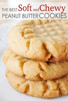 - The Easiest Soft and Chewy Peanut Butter Cookies Soft and chewy Peanut Butter Cookies that melt in your mouth with every single bite! It's the best Peanut Butter cookie recipe, easy to make, and takes less than 15 minutes to prepare! Homemade Peanut Butter Cookies, Classic Peanut Butter Cookies, Butter Cookies Recipe, Peanut Butter Recipes, Yummy Cookies, Cookies Soft, Oatmeal Cookies, Peanutbutter Cookies Easy, Peanut Better Cookies