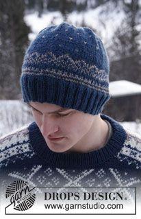 "Knitted DROPS men's jumper with Norwegian pattern in ""Karisma"". Size: S - XXXL. ~ DROPS Design"