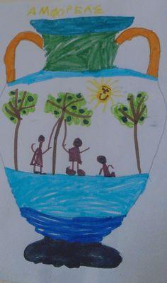5ο ΝΗΠΙΑΓΩΓΕΙΟ ΚΑΛΑΜΑΤΑΣ-ΑΜΦΟΡΕΙΣ ΛΑΔΙΟΥ Crafts For Kids, Diy Crafts, Greek Mythology, Kindergarten, Blog, Painting, Crafts For Children, Make Your Own, Painting Art