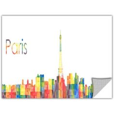 Revolver Ocelot Paris Removable Wall Art Graphic, Multicolor
