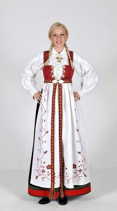 Regional Versions of Bunad, Norwegian Traditional Outfit Happy Birthday, Norway of May) Mrs Claus Outfit, Norway Culture, Norwegian Clothing, Viking Clothing, Ethnic Dress, Medieval Fashion, Folk Costume, Costumes, Summer Outfits Women