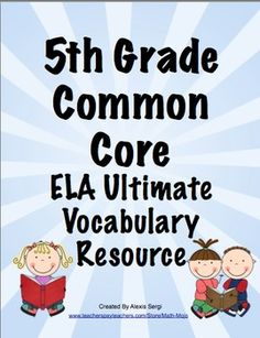 Common Core Vocabulary Word Wall and More - Vocabulary is essential! This 200+ page printable packet will help your students master the ELA vocabulary from the Common Core Standards. It includes a ELA vocabulary word wall, flash cards, and vocabulary flip books!  $