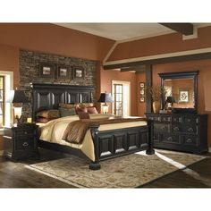 the brookfield bedroom set by pulaski furniture provides an understated traditional look for customers with a - Wynwood Furniture