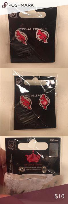 New Jersey Devils earrings New Jersey Devils earrings - NHL product. Never used and still in packaging. Hypoallergenic. NHL Jewelry Earrings