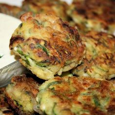 Mediterranean Zucchini Fritters With Sensational Yogurt Sauce Recipe