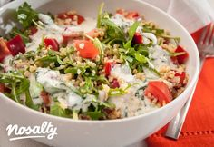 Bulgursaláta kefires öntettel | Nosalty Vegetable Recipes, Meat Recipes, Vegetarian Recipes, Healthy Recipes, Vinaigrette, Bulgur Salad, Salad Dishes, Valeur Nutritive, Hungarian Recipes