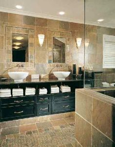 Love this bathroom sink/cabinet- master bath... Must convince Dixon.