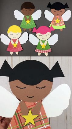 Christmas angel craft Paper angel craft for preschoolers, kindergartners and older kids to make for Christmas. Angel printable template available for classroom crafting. Learn how to make an angel craft. Christmas Angel Crafts, Preschool Christmas Crafts, Winter Crafts For Kids, Classroom Crafts, Diy Crafts For Kids, Kids Christmas, Kids Holiday Crafts, Paper Crafts Kids, July Crafts