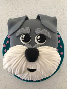 Schnauzer Cake The Effective Pictures We Offer You About people and Pet photography A quality picture can tell you many … Puppy Birthday Cakes, Dog Birthday, Fondant Cakes, Cupcake Cakes, Fondant Dog, Dog Cupcakes, Fondant Animals, Animal Cakes, Animal Birthday