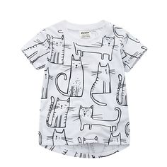 Short Sleeve Kids T Shirt for Boys Girls White Cotton Baby Infant Toddler Clothes Boys Girls Summer Clothes Suit for 18M-6T #Affiliate