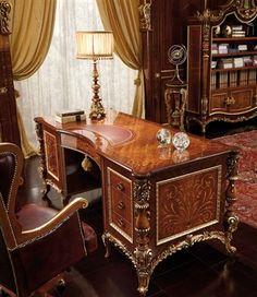 Traditional Ornate Home Office Executive Desk Set  Dream