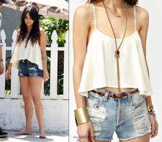 Vannessa Hudgens Fashion spotting ! TOP:For Love & Lemons Fiesta Tank – Nasty Gal $98.00  We posted her shorts HERE.