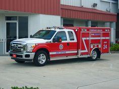 Pompano Beach, FL FD EVI/Ford Light Rescue Squad.