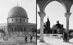 Qubbat al-Sakhra and Masjid al-Aqsa, Jerusalem, Palestine, 1890s (Osmanlı Kudüs Dönemi, Filistin)