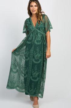 c5b90abfa73bc Dark Teal Lace Mesh Overlay Maxi Dress Maternity Maxi, Maternity Fashion, Maternity  Style,
