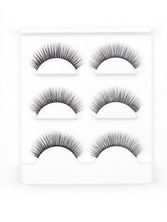 Makeup Tools by BORNTOWEAR. Natural False Eyelash 3pairs