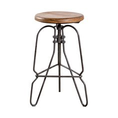 Rustic to its core, the Essex Counter Stool is a striking addition to your kitchen décor. The bold design boasts a shaped metal tripod base with a backless round seat perched atop. The seat offers heig...  Find the Essex Counter Stool, as seen in the Retro Racquet Club Collection at http://dotandbo.com/collections/retro-racquet-club?utm_source=pinterest&utm_medium=organic&db_sku=102581