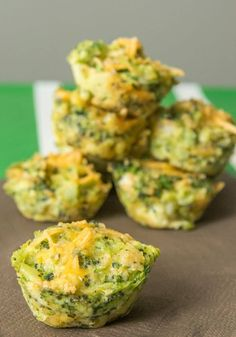 These broccoli cheddar bites are cooked in a muffin tin!