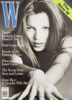 <em>W</em> Magazine's Supermodel Cover Girls - Kate Moss on the cover of W Magazine September 1993