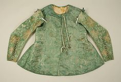 Doublet, ca. 1645, British, leather and silk, via Metropolitan Museum of Art
