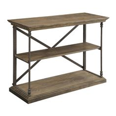 Found it at Wayfair - Rustic Console Table http://www.wayfair.com/daily-sales/p/Chic-Chests-%26-Decor-Rustic-Console-Table~CTCI3503~E18957.html?refid=SBP.rBAjD1UcT7RRUw35BjPEAhixuyJ2n0kVr-6LtPDMLqE