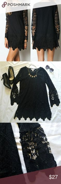 Sans Souci Black Lace Dress Beautiful, classy and elegant lacy dress.  Perfect little black dress for a date night or night out.   Measurements coming soon! Sans Souci Dresses