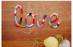 毛糸とワイヤーを使って文字のオブジェを作る方法     結婚式 DIY&ハンドメイド作り方