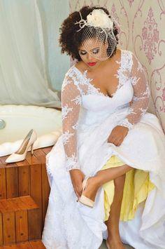 O Blog da Noiva Negra: Making Of: Noiva Ana Cleide