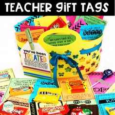 Just because gift idea recharge your day maestros los maestros y teacher gift tags for teacher appreciation breaks solutioingenieria Choice Image
