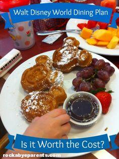 #WaltDisneyWorld Dining Plan: Is It Worth The Cost? - #WDW rockabyeparents.com