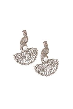 Peacock diamond earings