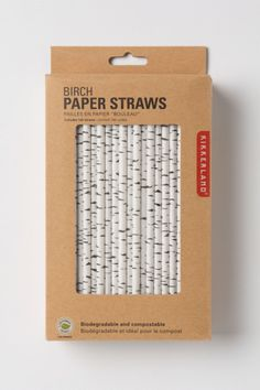 Canadian Birch Straws - these would be cool in the hot chocolate, to go with the whole winter forest theme