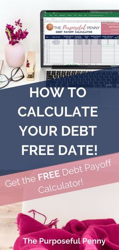 Debt-Payoff Calculator Want to calculate your Debt Free Date? I have an amazing FREE debt payoff calculator that will help you calculate your debt free date Savings Planner, Budget Planner, Mortgage Payment Calculator, Household Expenses, Student Loan Debt, Get Out Of Debt, Debt Payoff, Debt Repayment, Debt Free