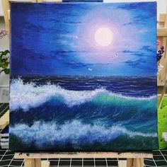 Canvas Painting Tutorials, Acrylic Painting Canvas, Acrylic Art, Canvas Art, Acrilic Paintings, Oil Painting For Beginners, Beginner Painting, Gouache Painting, Painting Techniques