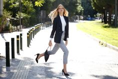 Office outfit ideas #choosepink Office Outfits, Duster Coat, Outfit Ideas, Woman, Pink, Jackets, Clothes, Fashion, Down Jackets