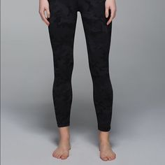 Lululemon Camo size 4 Lululemon RARE dark/grey/black Camo Hightimes 7/8 length worn by me once purchased from another posher. Great condition super comfy. Size 4 will condsider trades for other size 4 lulu leggings  lululemon athletica Pants Leggings