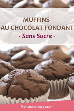 I just made the Dark Chocolate Muffins … It's a killer! I share with you the recipe for these chocolate muffins with a fondant croq'kilos heart. Chocolate Muffins, Chocolate Recipes, Diabetic Recipes, Healthy Recipes, Healthy Food, Dessert Healthy, Healthy Muffins, Muffin Recipes, Clean Eating Snacks