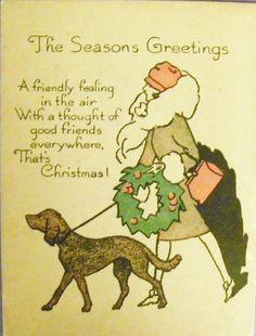 Christmas Card Art Deco by MyOwnAssortment on Etsy, $15.00
