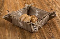 Brotkorb Edelweiß 35x35 cm Edelweiss, Burlap, Reusable Tote Bags, Gifts, Hessian Fabric, Jute, Canvas